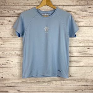 Good Tech by Life is Good blue short sleeve shirt